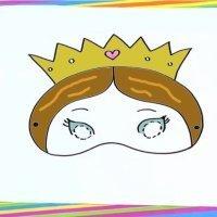 Cómo dibujar un antifaz de princesa