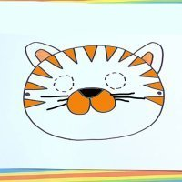 Cómo dibujar una máscara de tigre