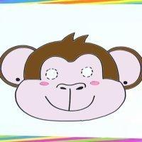 Cómo dibujar una máscara de mono