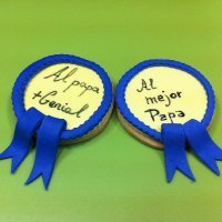 Cómo decorar galletas con medalla para papá