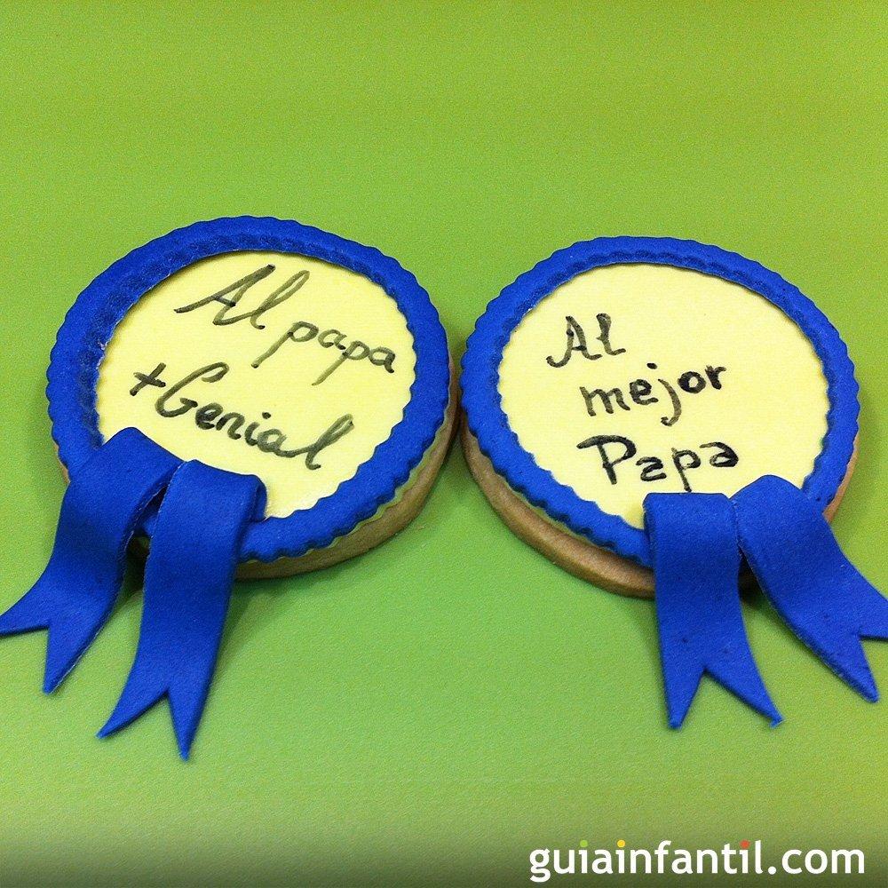 C mo decorar galletas con medalla para pap for Decoracion x el dia del padre