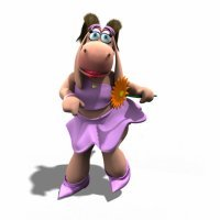 El baile de la rinoceronte Holly Dolly