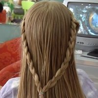 Recogido con dos trenzas, ideas de peinados
