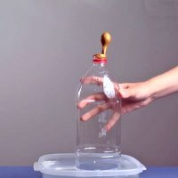 Inflar globo con media botella. Ciencia para niños
