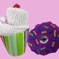 Cómo hacer cupcakes y donuts con calcetines