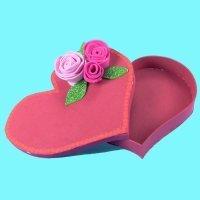 Cómo hacer una caja con forma de corazón. Manualidades infantiles