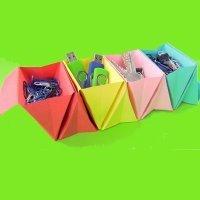 Cómo hacer un organizador de escritorio de origami