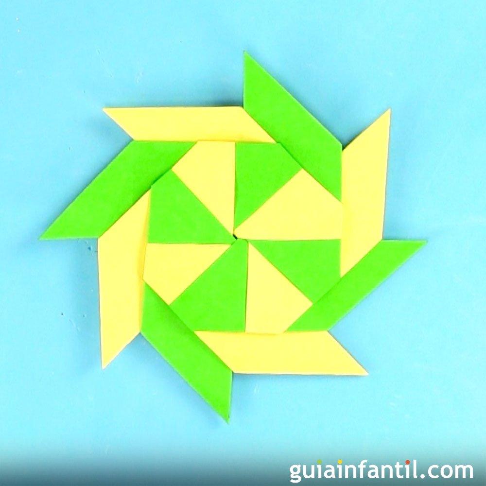 Estrella modular de papel origami f cil para ni os - Origami de una estrella ...