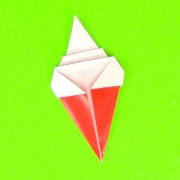 Cómo hacer un helado de origami