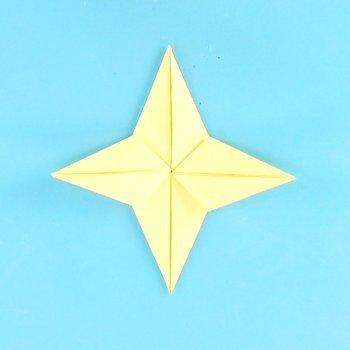 Estrella de Navidad en origami