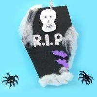 Cómo hacer una tumba decorativa para Halloween