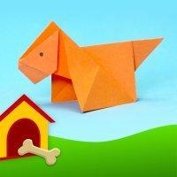 Cómo hacer un perro de origami