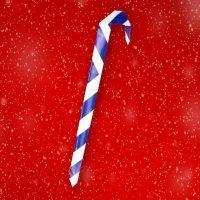 Cómo hacer un bastón de caramelo para Navidad en origami