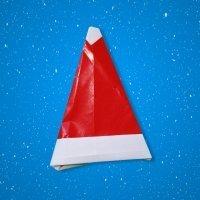 Cómo hacer un gorro de Papá Noel de origami
