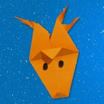 Un Reno de origami