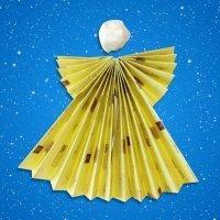 Cómo hacer un ángel de origami para Navidad