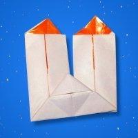 Velas de origami para decorar en Navidad