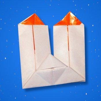 Velas navideñas de origami