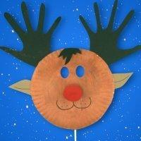 Cómo hacer una máscara de Rodolfo el Reno para Navidad