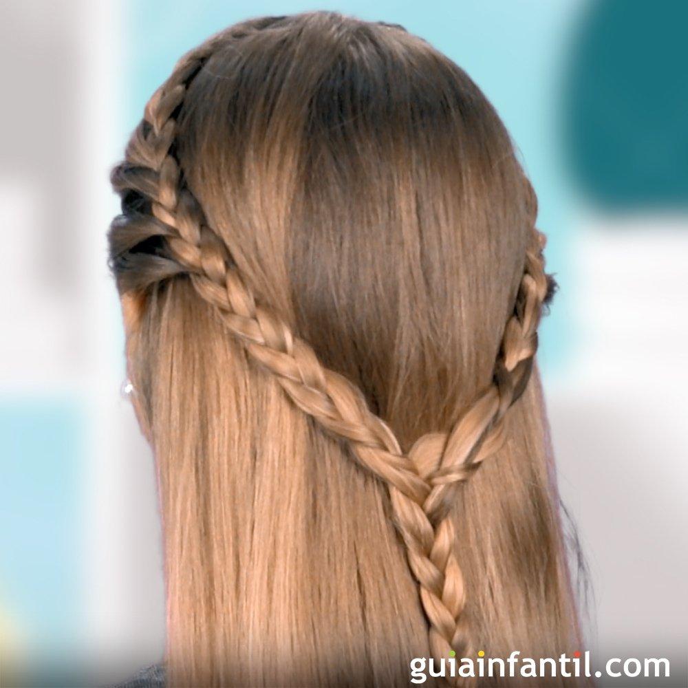 C mo hacer una trenza de coraz n peinados para ni as - Peinados para hacerse una misma ...