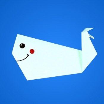 Ballena de papel. Animales de origami
