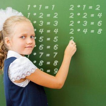 Truco con la tabla de multiplicar del dos para los niños