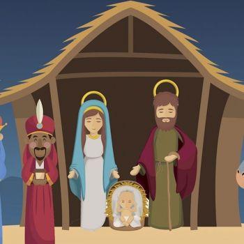 El nacimiento del niño Jesús. Cuento ilustrado de Navidad para niños