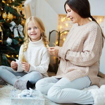 Peinados para niñas para Navidad