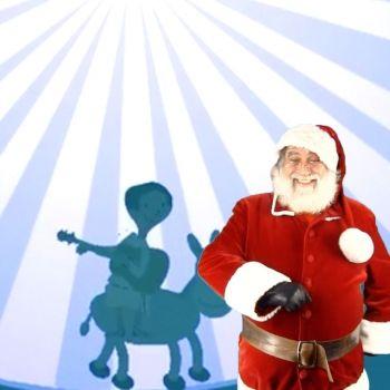 Mi burrito Sabanero con Papá Noel. Villancico para cantar con los niños