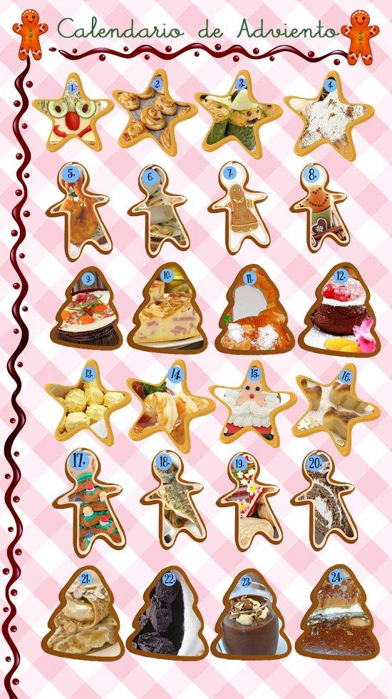 Calendario de adviento con recetas de navidad para ni os for Calendario adviento ninos