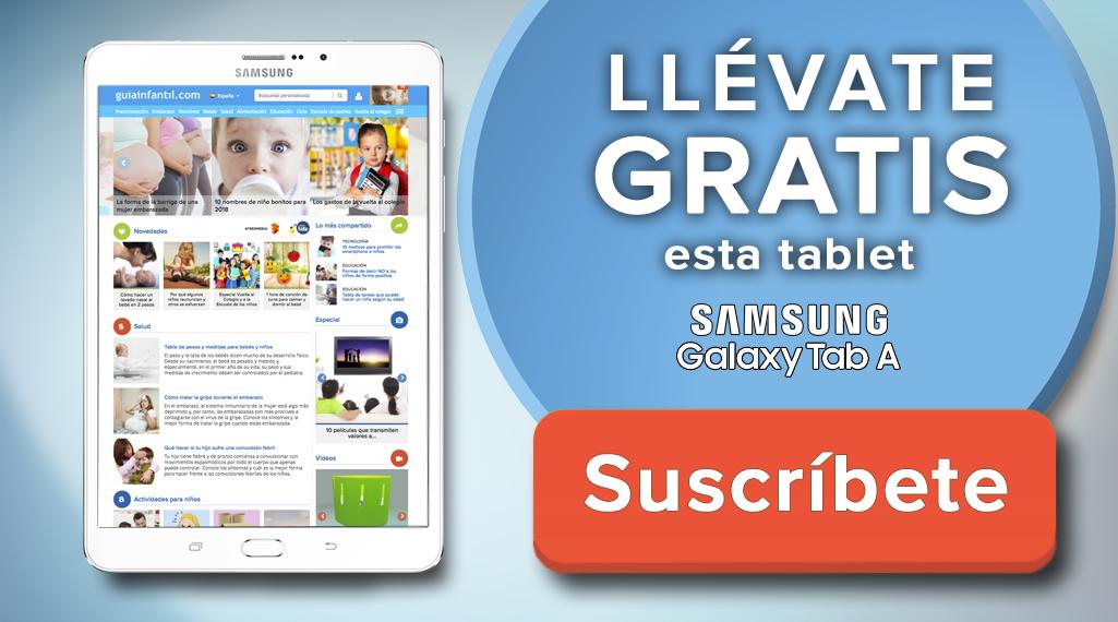 Samsung Galaxy Tab gratis al registrarte