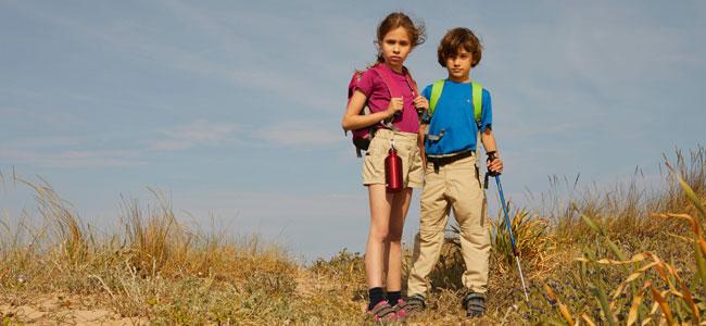 Ropa para excursiones con niños en verano