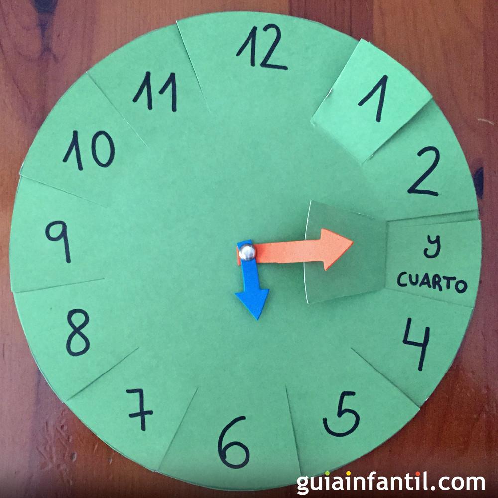 Reloj Casero Facilísimo De Hacer Para Que Los Niños Aprendan Las Horas