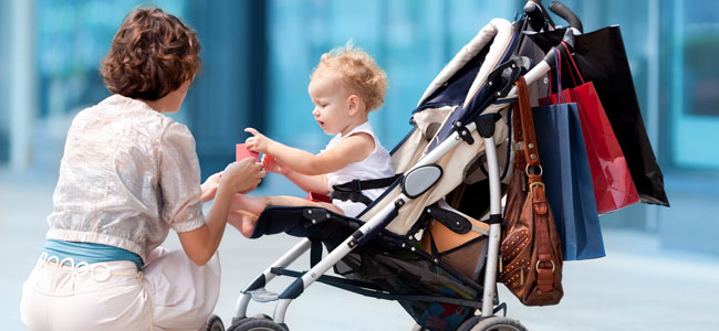 El carrito del bebé no es una percha