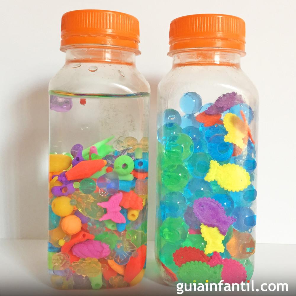 20 botellas sensoriales caseras para bebés con cosas que tienes por ...