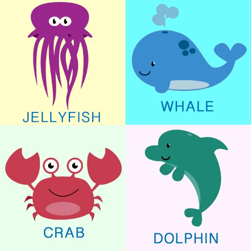 Aprende El Nombre De Los Animales Marinos En Ingles