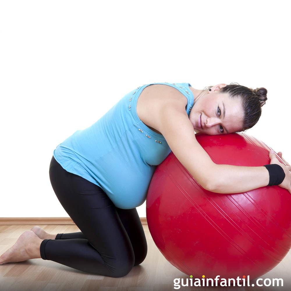 Ejercicio con balón para embarazadas