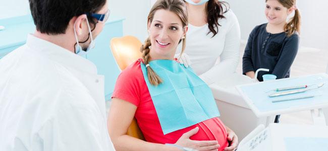 El dentista y el embarazo y lactancia