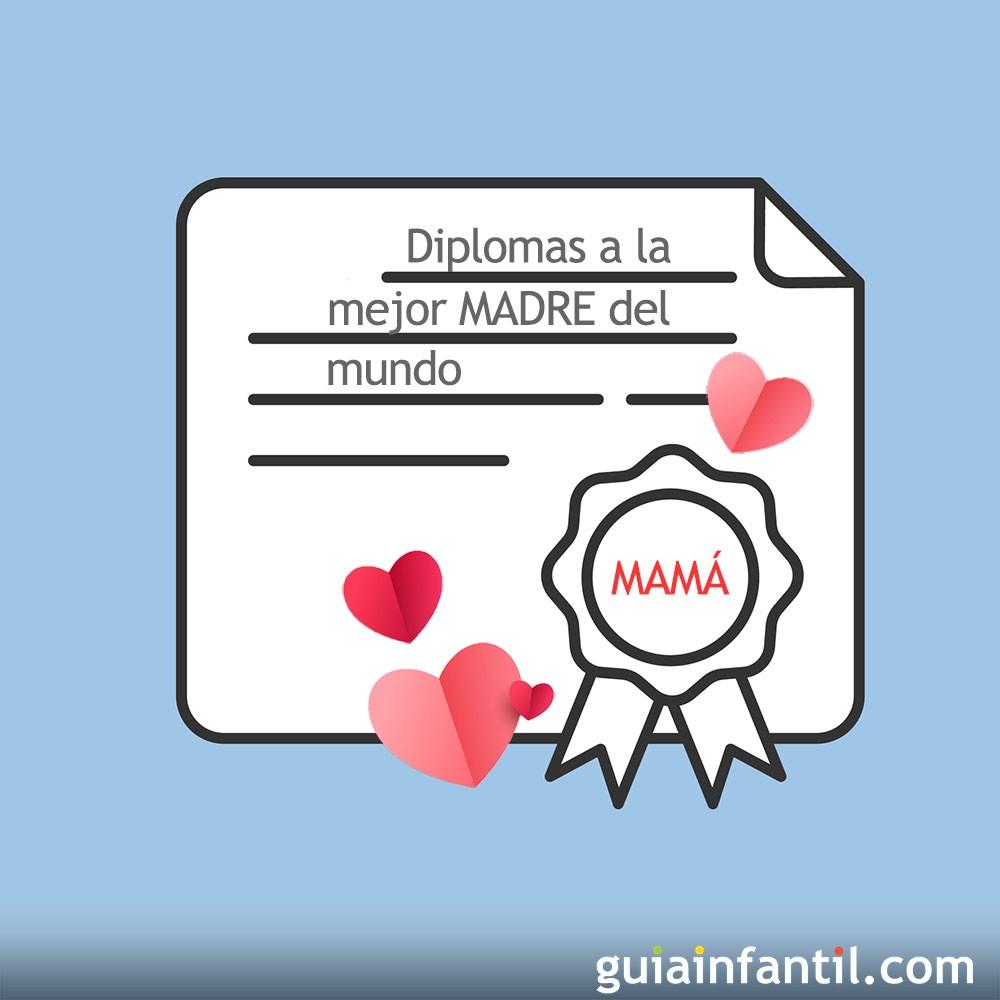 Diplomas Dia De La Madre Dibujos Para Colorear Con Ninos