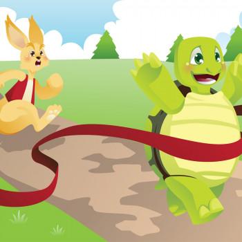La liebre y la tortuga. Fábula en pictogramas para niños