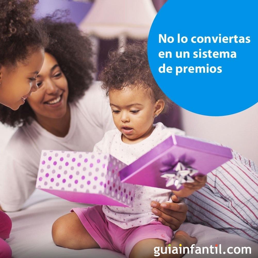 Quitar el pañal al bebé: no establezcas un sistema de premios