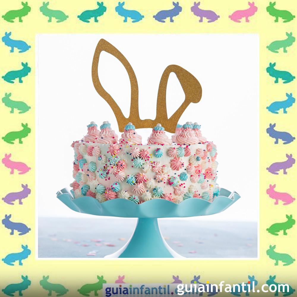 Tartas de Pascua decoradas. Pastel de conejo