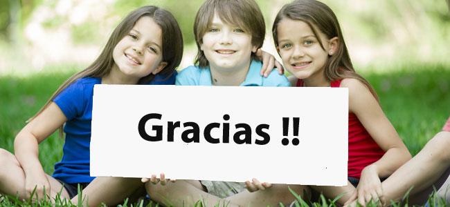 Enseñar a un niño a decir gracias