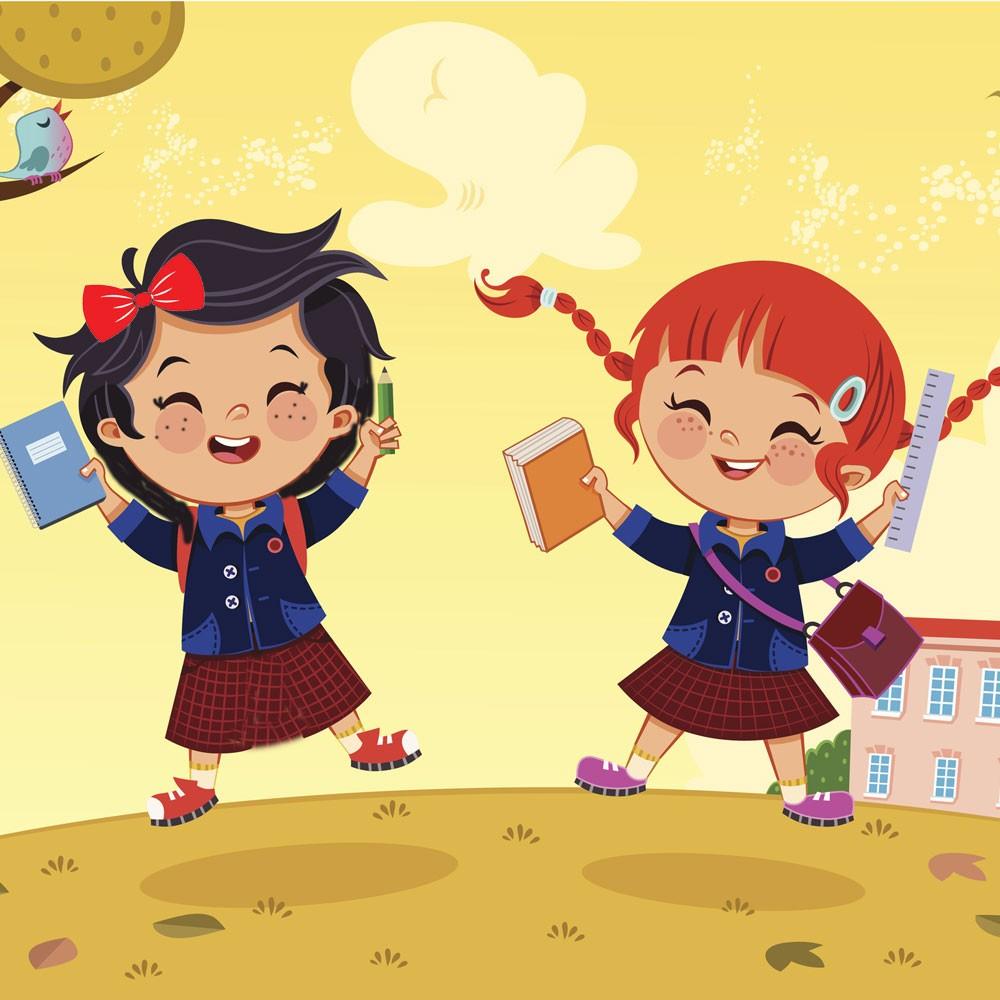 Sofía y Lucía. Cuento infantil sobre la vuelta al colegio