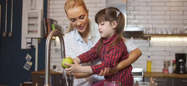La higiene de los alimentos de los niños