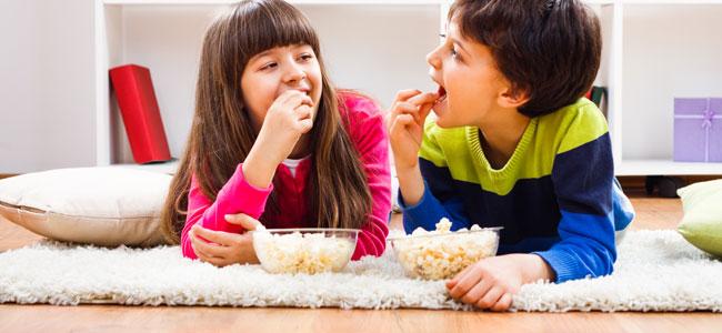 Beneficios de las palomitas para los niños