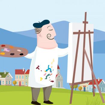Biografía en cuento de Salvador Dalí para niños