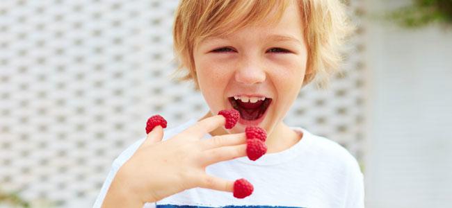 Beneficios de los frutos rojos para los niños