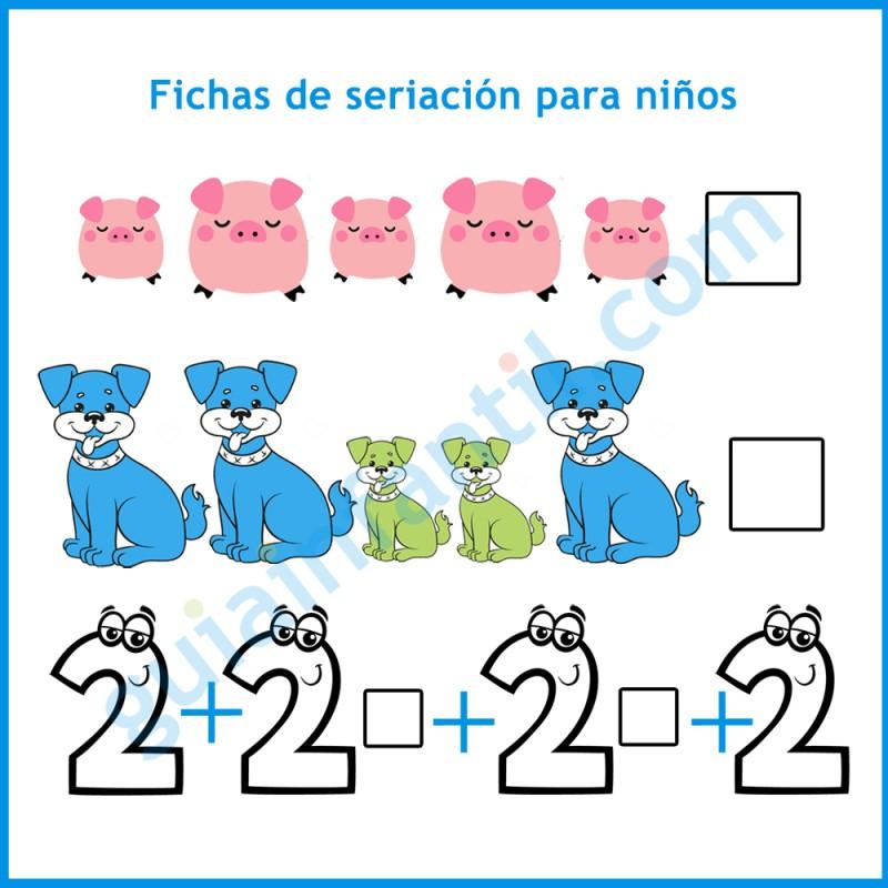 Fichas De Seriación Para Niños De 3 4 Y 5 Años Ejercicios Educativos