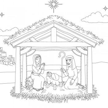 3 poemas cortos de Navidad para leer y colorear